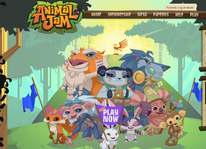animal games jam game virtual animals cute pet websites avatars virtualworldsforteens teens worlds blogs fan different contents building