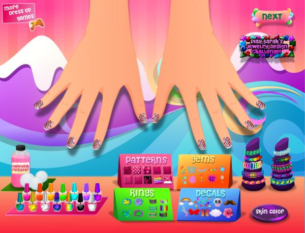 Sarahs Rainbow Nail Art