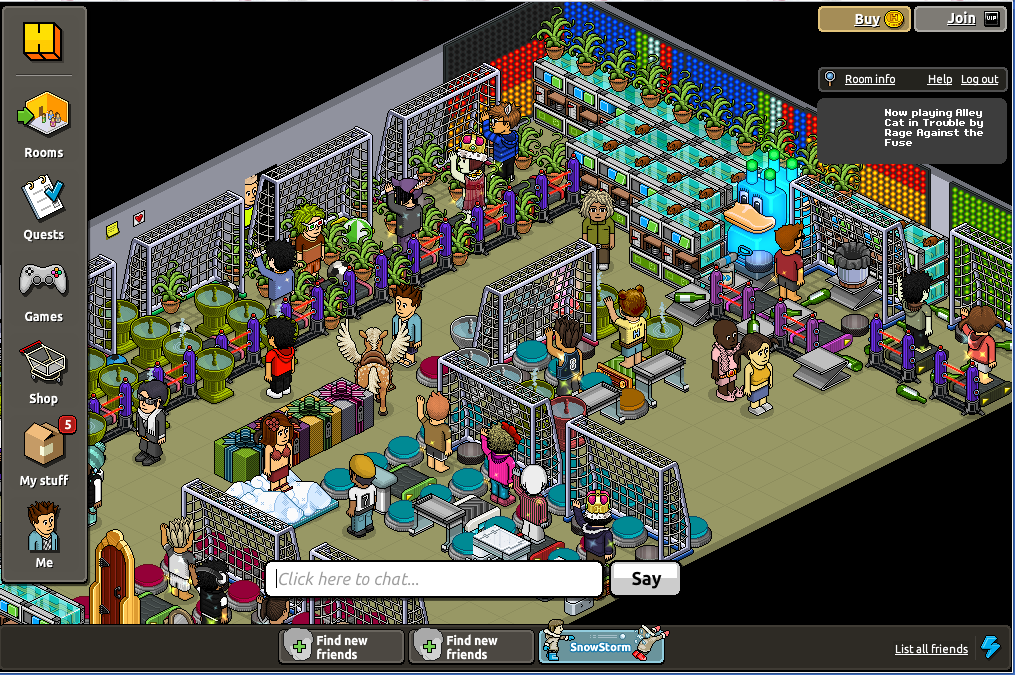 Virtual World Chat Rooms