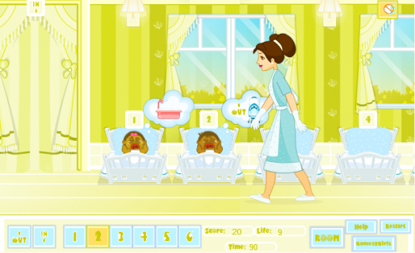 Baby Sitting Game Screenshot