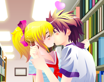 Kissing  library1