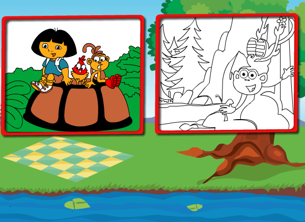 Dora_And_Nature_Coloring