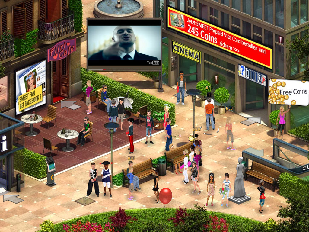 Smeet hints cheats and achievement codes virtual worlds - Smeet juego virtual ...