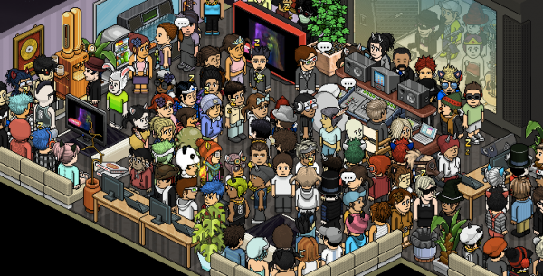 Habbo Hotel Crowd