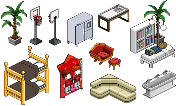 Habbo Hotel Furnitures