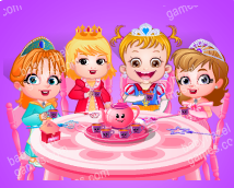 Tea party with Baby Hazel and friends