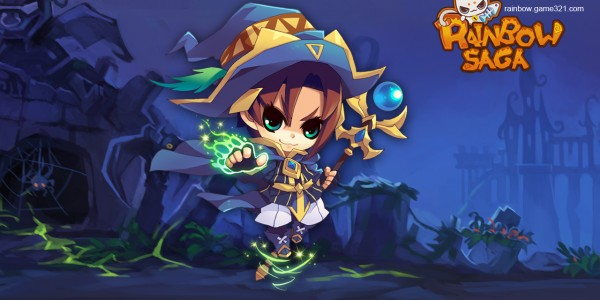An anime-looking wizard or what they call a Mage in this game..