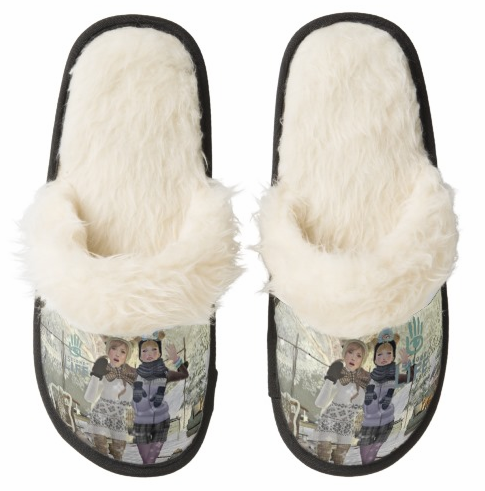 SecondLifeCustomTanFuzzySlippers