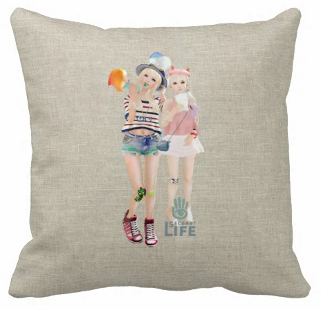SecondLifeCustomThrowPillow