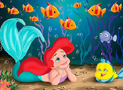 Mermaid_Ariel_and_Flounder_Puzzle_