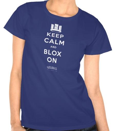 RobloxKeepCalmandBLOXOnWomensT-shirt