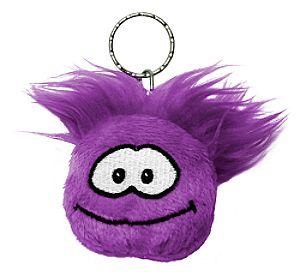 club-penguin-purple-plush-puffle-keychain