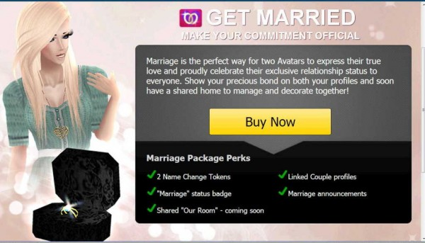 IMVU Marriage Package