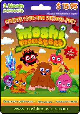Moshi Monsters 3 Month Membership