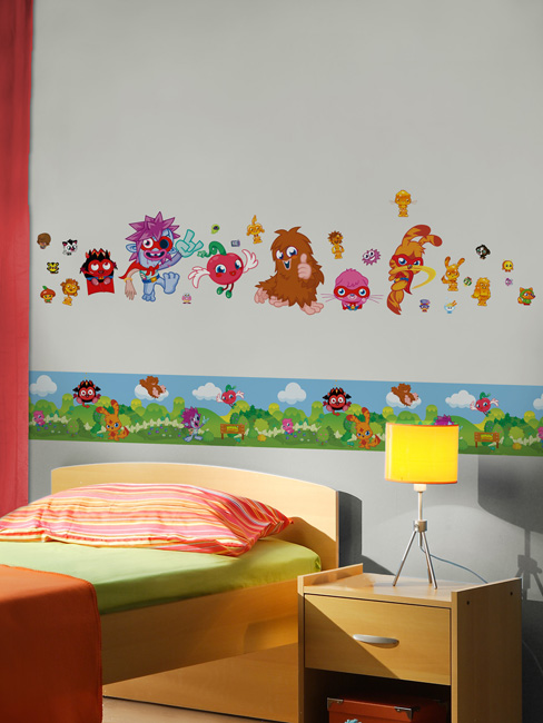 Moshi Monsters Mash Up Self Adhesive Wallpaper Border 5m