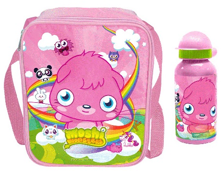 Moshi Monsters Poppet Insulated Lunch Bag & Aluminium Drinks Bottle Combo