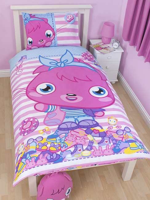 Moshi Monsters Poppet Vogue Single Reversible Duvet Cover & Pillowcase Set