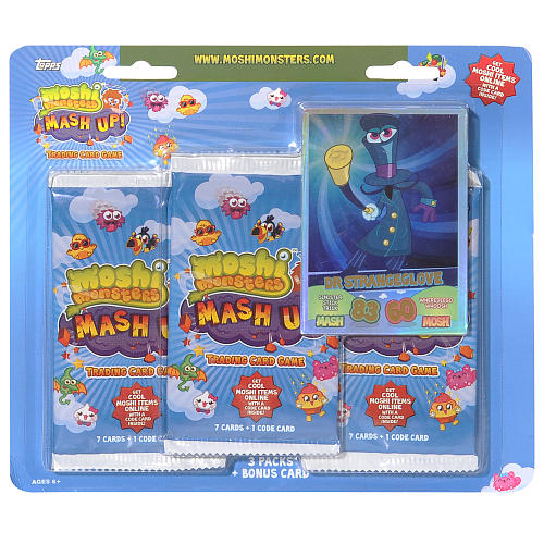 Moshi Monsters Trading Cards- 3-Pack