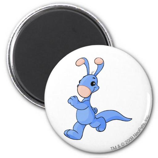 Neopets Blumaroo Blue Refrigerator Magnet