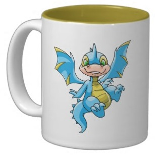 Neopets Curious blue Scorchio Coffee Mugs