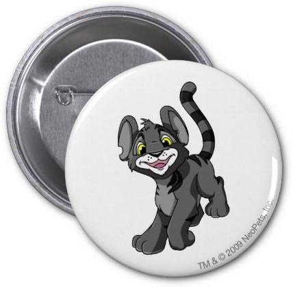 Neopets Kougra Shadow Pinback Button