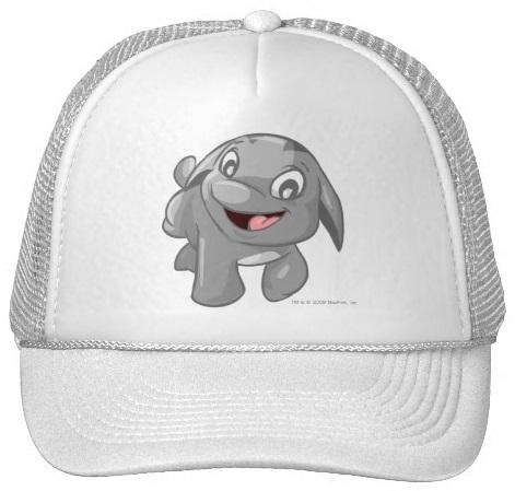 Neopets Poogle Silver Trucker Hat