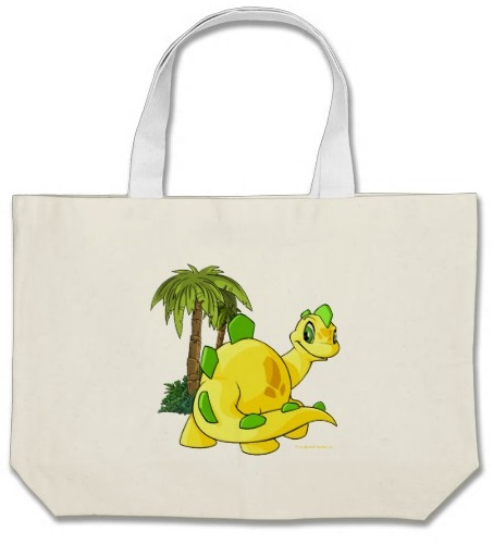 Neopets Tyrannian  yellow Chomby gazing Canvas Bags