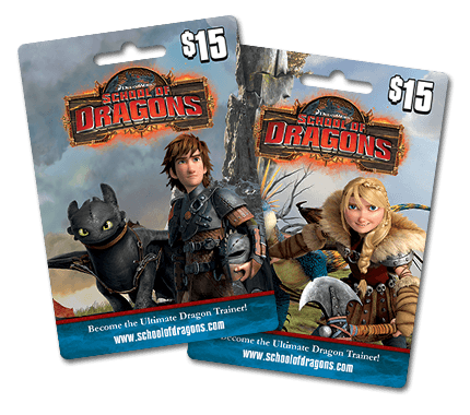 School of Dragons Game Cards