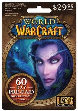 World of Warcraft 60 Day Prepaid Card