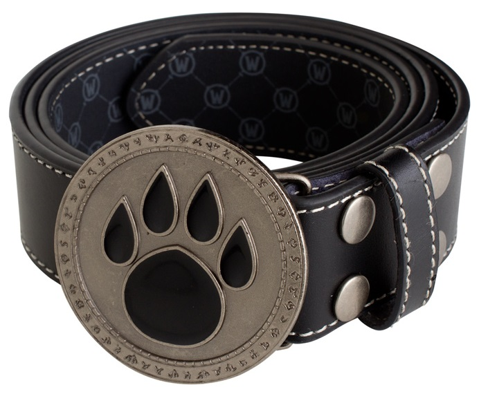 World of Warcraft Paw Icon Leather Belt