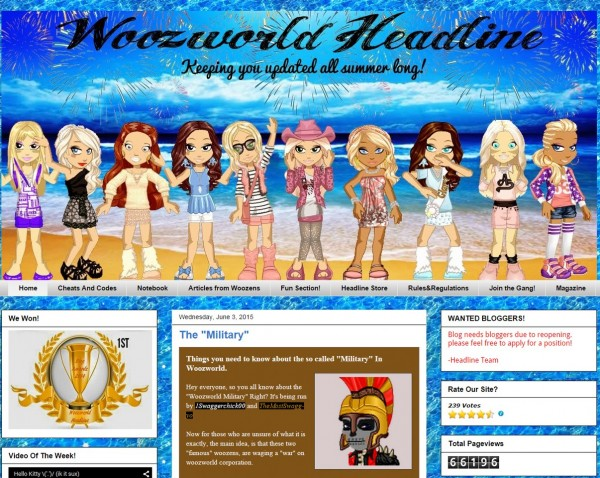 WoozWorld Headline