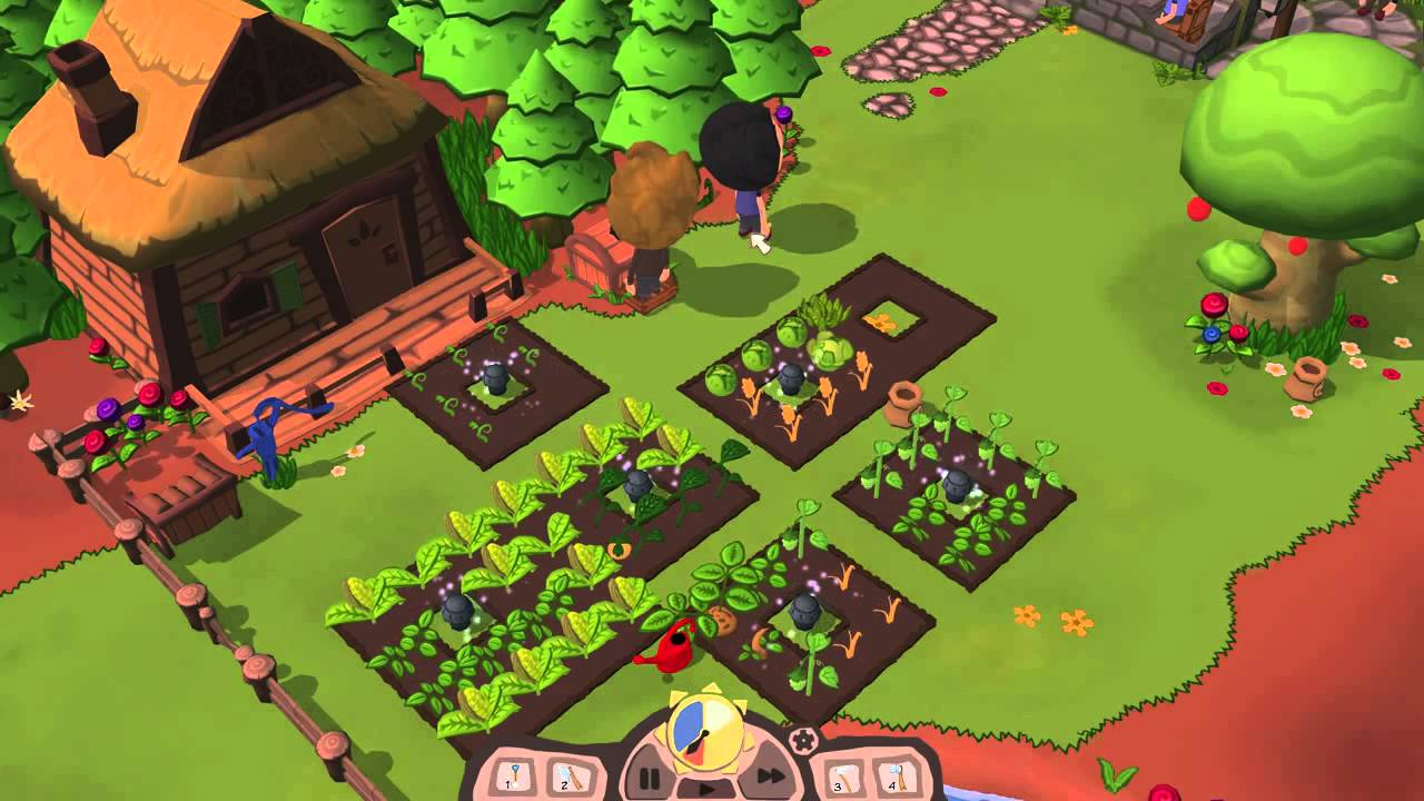 Farm For Life Game with two characters in the garden