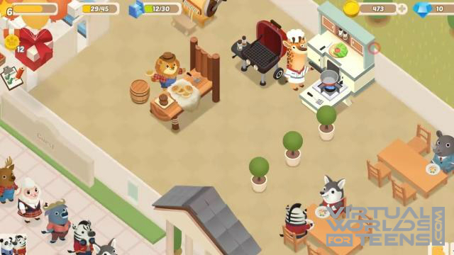 Dining Zoo - Virtual Worlds for Teens
